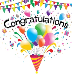 Congratulations party on a white background vector
