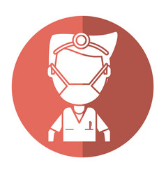 Doctor specialist mask medical shadow vector