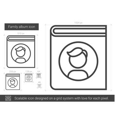 Family album line icon vector
