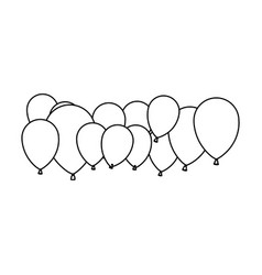 figure colored party balloons icon vector image vector image