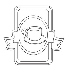 figure symbol cup with plate icon vector image vector image