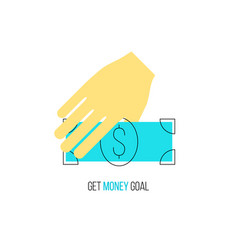 financial income concept vector image vector image