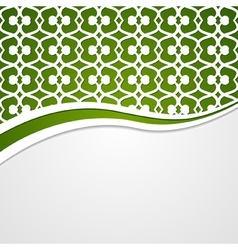Green patterned background vector