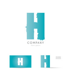 h blue letter alphabet logo icon design vector image vector image