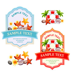 Happy summer label vector