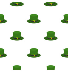 Leprechaun hat pattern flat vector