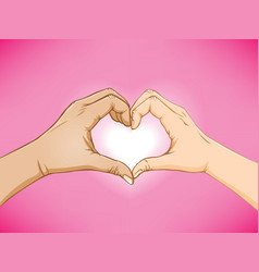 love hand sign vector image vector image