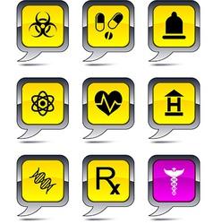 Medical balloon icons vector