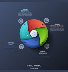 Modern infographic design template with circle vector