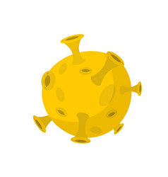 moon isolated cartoon style yellow planet of vector image