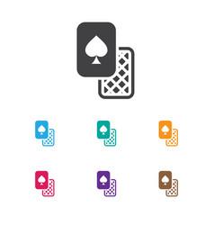 of gambling symbol on vector image vector image