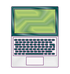 open laptop keyboard screen blank device vector image