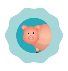 Pork animal farm icon vector