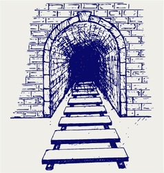 Railway tunnel vector