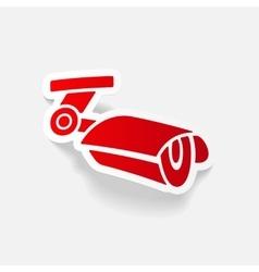 realistic design element video surveillance vector image