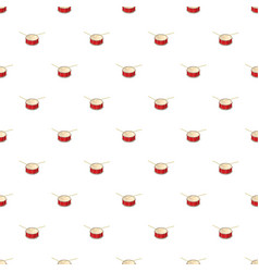 Red drum and drumsticks pattern vector