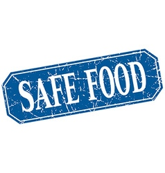 Safe food blue square vintage grunge isolated sign vector