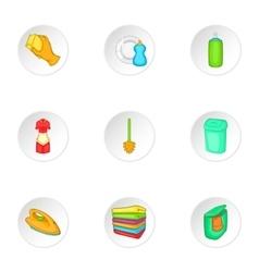 Sanitation icons set cartoon style vector