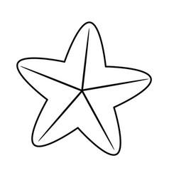 sea star or starfish icon image vector image