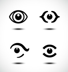 Set of eye icons vector