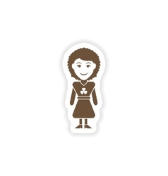 Stylish paper sticker on white background irish vector