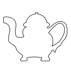 teapot icon black color vector image