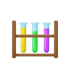Test tubes on a stand vector image