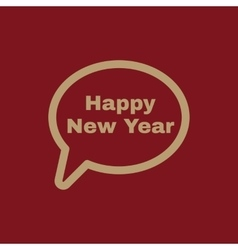 The speech bubble with the word happy new year vector