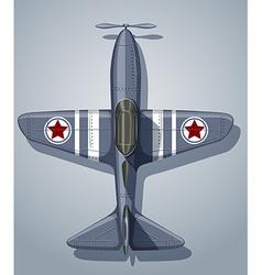 Vintage airplane used in army vector image