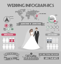 Wedding infographics vector image