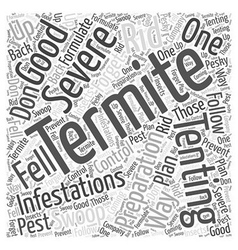 Termite tenting preparation word cloud concept vector