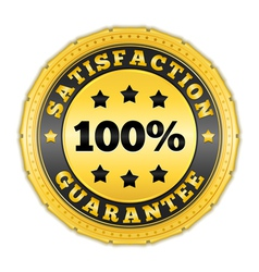 Satisfaction Guarantee Golden Badge vector image