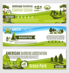 gardening or green landscape design banners vector image