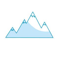Snowy mountains and beauty landscape vector