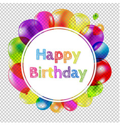 Happy birthday banner with balloons vector