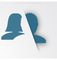 Abstact people template Family icon vector image