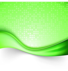 Bright green swoosh line background template vector