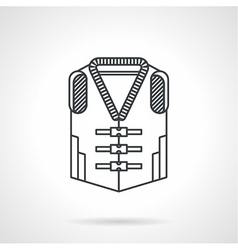 Life vest black line icon vector