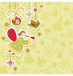 Abstract christmas lovely cute card vector