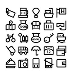 Travel icons 7 vector
