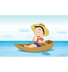 Boat on water vector