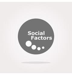 Social factors web button icon isolated on vector
