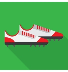 Football boot flat icon vector