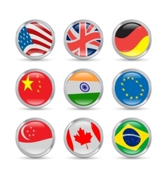 Countries flags icons vector