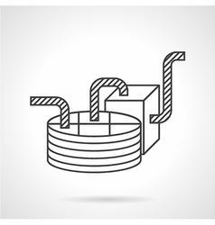 Chocolate machine flat line icon vector image