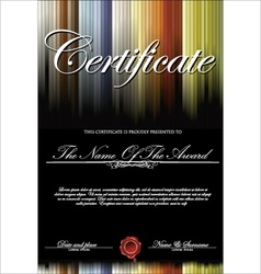 Colorful and black certificate template vector