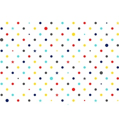 Colorful dots white background vector