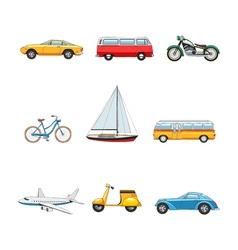 Comic transport set vector
