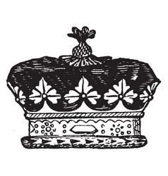 Coronet of an english duke vintage engraving vector