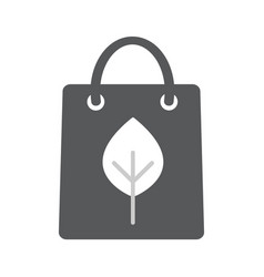 eco paper bag icon vector image